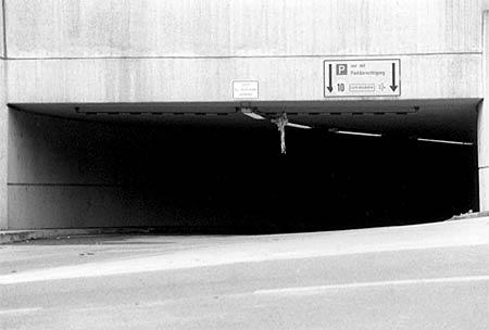 Underground parking exit